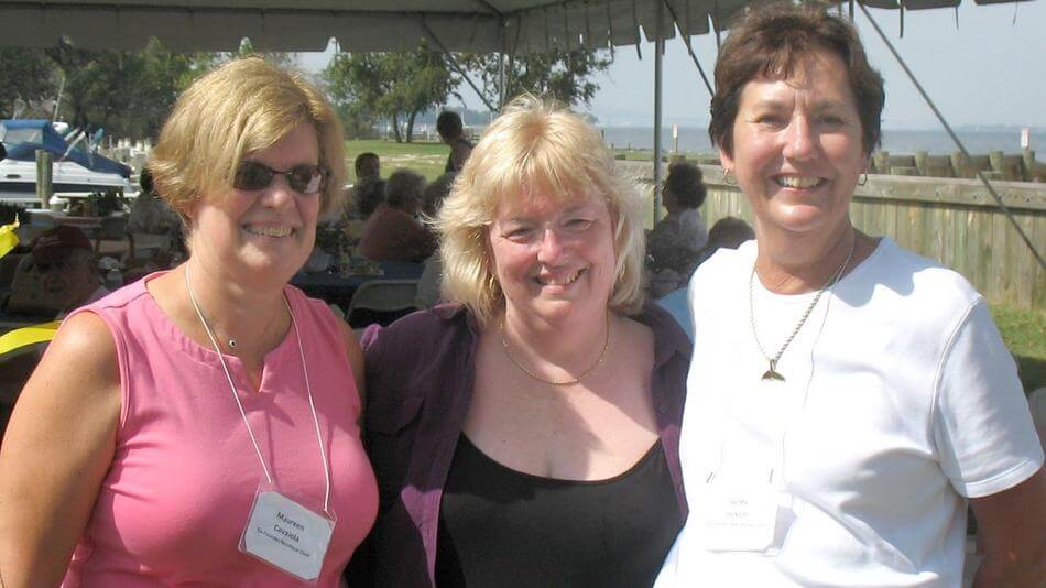 Founded in 1993 by, from left, Maureen Cavaiola, Barbara Huston and Sandra Jackson, all of Severna Park, Partners In Care has grown from a dozen initial participants to include 2,500 volunteer members who help older and disabled adults remain independent in their own homes.