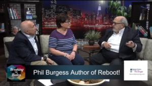 "A youtube thumbnail of Phil Burgess talking with the hosts of ""Breaking the Rules"""