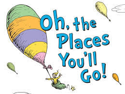 Oh the Places You'll Go Book cover by Dr Seuss