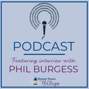 Image saying Podcast - featuring interview with Phil Burgess