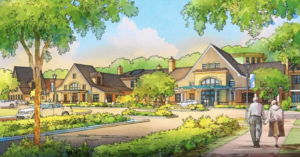 Artists rendering of the new Bay Village development in Annapolis