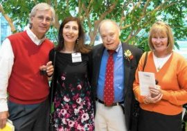 """From left, John Frece, Nadja Maril, the late journalist Robert """"Bob"""" Timberg and Priscilla Cummings at a reception for the Annie Awards. Frece has built a life in retirement that involves writing, grandparenting and advocacy. (by Don Dement / HANDOUT)"""